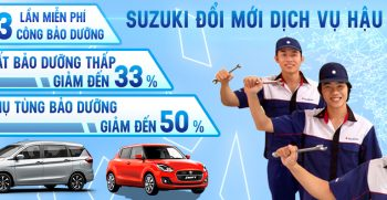 CHính sách hậu mãi Suzuki thay đổi từ ngày 1-4-2020
